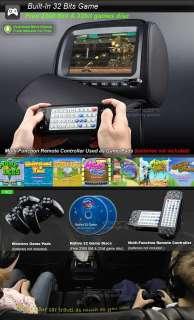 Pair 9 LCD Car Headrest DVD Player w/ BLACK Cover Eonon C1007