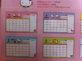 2012 Sanrio Hello Kitty Japan Table Desktop Calendar B Latest