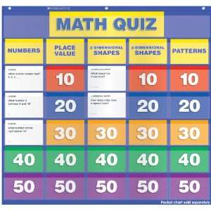 Scholastic Teachers Friend Math Class Quiz: Grades K 1 Pocket Chart