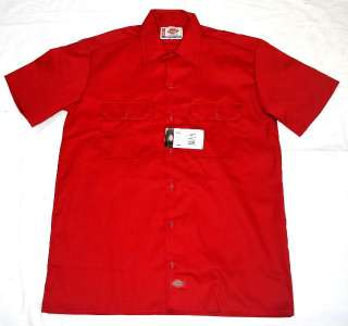 NWT 1574 DICKIES SHORT SLEEVE WORK SHIRT RED