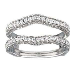 Carat Diamond 10 Karat Gold Wedding Ring Guard Enhancer Jewelry