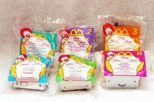1998 Disney Video Favorites McDonalds Happy Meal Toys Set of 6 Free