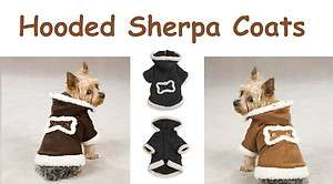 HOODED SHERPA JACKETS for DOGS   Dog Coats   Very High Quality & Warm