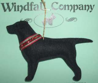 Black Labrador Retriever Dog Christmas Canine Ornament by WC