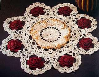 DECORATIVE DOILIES Crochet Project Pattern Book 7 Dsgns