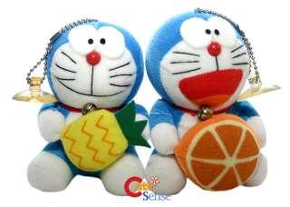 Doraemon Fruit Perfume Plush Figure Doll Set Two 4.5
