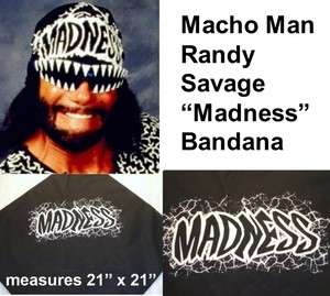 Oh Yeah MACHO MAN Randy Savage MADNESS Black Bandana