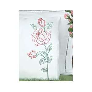 Jack Dempsey Stmpd Pillowcases  Long Stem Rose Arts
