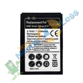 NEW 2X 3500mAH extended battery Samsung Droid Charge i510 + Cover