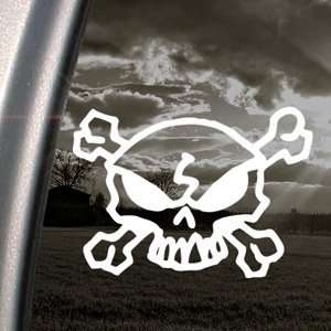 SKULL CROSSBONES Punisher Decal Truck Window Sticker Arts