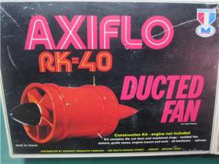 RK 40 Ducted Fan Kit #803 .40 RC Model Airplane Engine NIB Jet