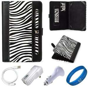 Dauphine Edition White Zebra Executive Leather Folio Case