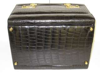 Mark Cross Crocodile Leather Toiletries Jewelry Case