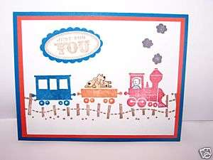 Stampin Up handmade greeting card train boys pet PY LOT