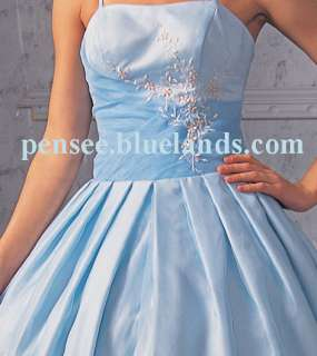 Quinceanera Wedding Prom Dress White Blue Pink Purple