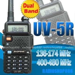 BAOFENG Dual band model UV 5R VHF/UHF Dual Band Radio FM 65 108MHZ NEW