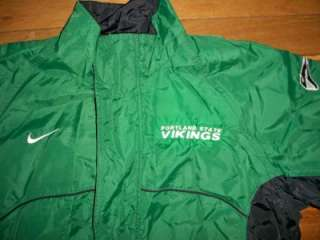 Portland State Vikings Nylon Team Jacket Large Mens