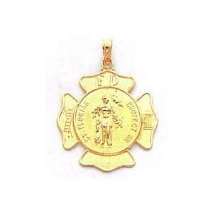 14k Gold St. Florian Badge Pendant [Jewelry]
