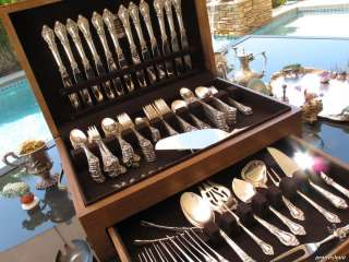 136 HUGE LUNT ELOQUENCE STERLING SILVER FLATWARE SET COLLECTIBLE HEAVY