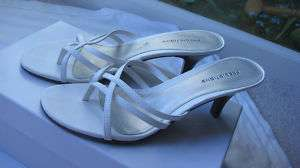 PREDICTIONS WHITE STAPPY WOMEN SHOES SANDALS SZ 9 NEW