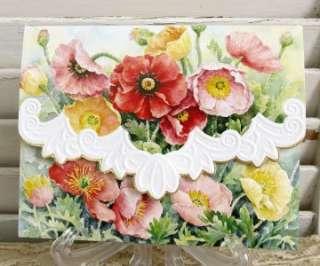 Wilson Poppies Blank Note Card Set 10 ct Embossed 095372021616