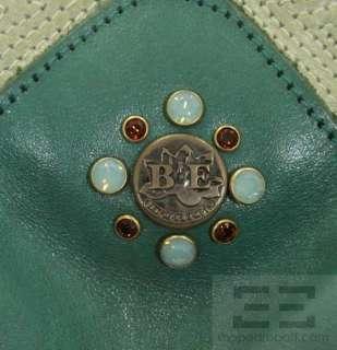 Bracher Emden Brown & Teal Leather Patchwork Jeweled Bag