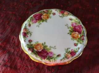 Royal Albert Old Country Roses Tea Pot Trivet Tile Teapot Gold