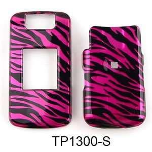 BLACKBERRY PEARL FLIP 8220 TRANS HOT PINK ZEBRA PRINT Cell Phones