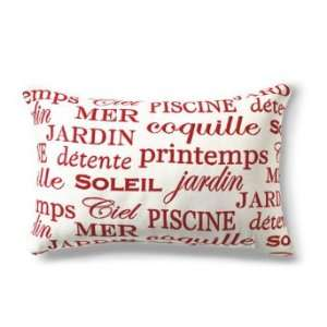 Outdoor Soleil Red Lumbar Pillow   Grandin Road: Home & Kitchen
