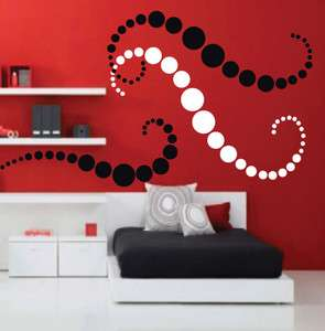 POLKA DOTS Removable Vinyl Art Wall Stickers/Wall Decals