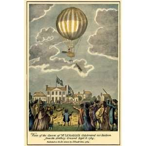 Ascent of Lunardis Balloon   Poster (12x18): Home