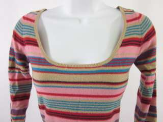 PLENTY Multi Color Striped Knit Long Sleeve Shirt Top S
