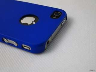 Dark Blue Moshi iGlaze Hard Case Cover for Apple iPhone 4 4G
