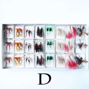 of 1200pcs high quality fishing fly flies lures hooks mix 8 styles d#