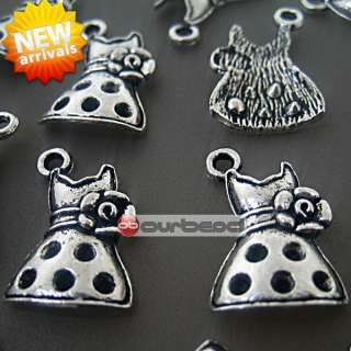 30 tibetan silver european Charm Dress Pendant TS4139