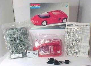 1992 Monogram PININFARINA MYTHOS Ferrari Model Kit 124