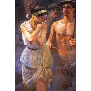 Made Oil Reproduction   Jacek Malczewski   32 x 48 inches   Polonia 1