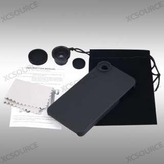 4S 4G Fish Eye Fisheye Camera Lens Wi Black Hard Back Case DC102