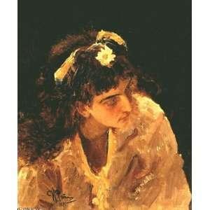 Hand Made Oil Reproduction   Ilya Repin   32 x 38 inches   Female Head