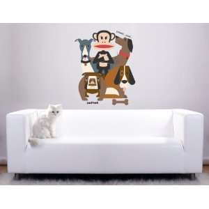 Paul Frank Julius & Dogs Wall Sticker Decal Wallpaper Kids Room Decor