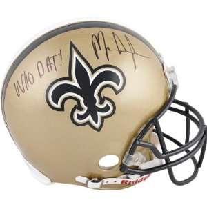 Mark Ingram Autographed Pro Line Helmet  Details New