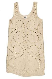 Haute Hippie womens faithfull sleveless studded silk dress $540 new
