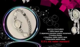 New Fashion Design Women White Lady Bracelet Mother Pearl Wrist Quartz