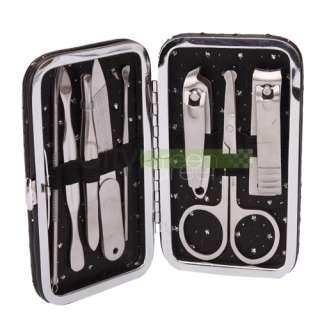 Nail Clipper Nipper Cutter Pedicure Manicure Set Kit Case Black