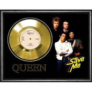 Queen Save Me Framed Gold Record A3 Musical Instruments