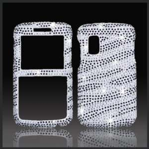 Silver & Black Zebra Cristalina crystal bling case cover
