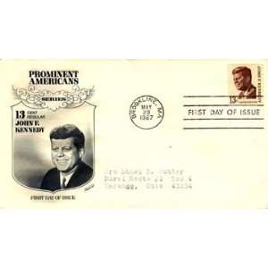 Two USA First Day Covers John F. Kennedy Prominent Americans Series