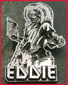 EDDIE PIN BADGE KILLERS ADRIAN MOTORHEAD IRON MAIDEN HEAVY METAL 666