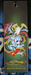 Ed Hardy Mens Dragon Attack Patch T Shirt Beige XXL