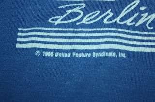 XS * vtg 80s 1985 BERLIN GERMANY jersey shirt * SNOOPY